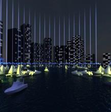 Abu Dhabi Najmat Marina, Illumination