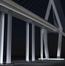 Mauritius Harbor Bridge, Illumination