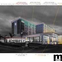 Hospital Mauritius, facade illumination