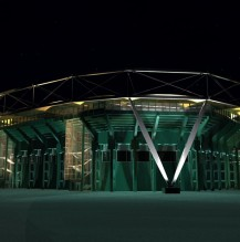 Gerry Weber Stadion, facade illumination